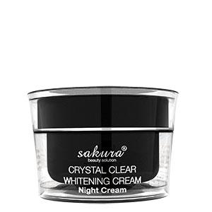 Kem trị nám ban đêm Sakura Crystal Clear Whitening Night Cream