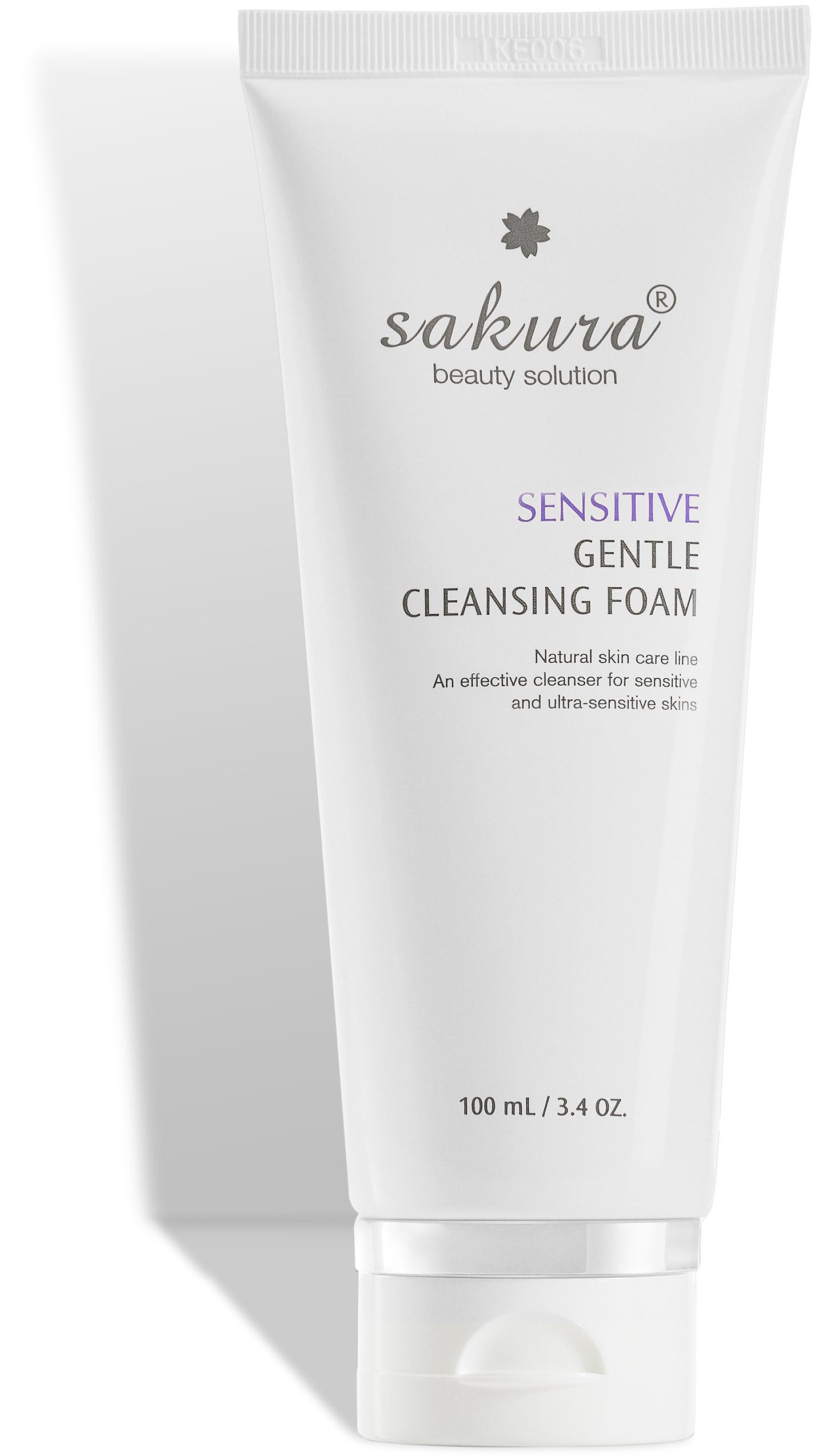 Sakura sensitive gentle cleansing foam