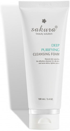 Sakura deep purifying cleansing foam