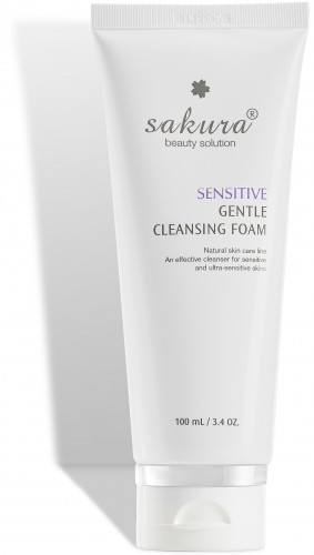 Sakura sensitive gentle cleansing foam
