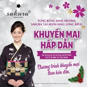 Cùng chào đón sự xuất hiện của Sakura tại Aeon mall Long Biên, Hà Nội