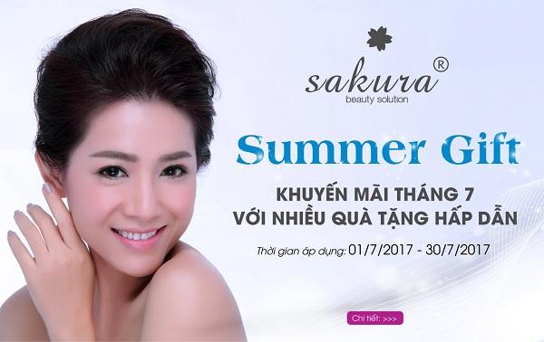 """Tự tin """"thách thức nắng hè"""" với làn da sáng khỏe cùng khuyến mãi tháng 7 của Sakura"""