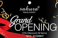 Đón giá sốc - nhận quà khủng tại showroom Sakura mới toanh