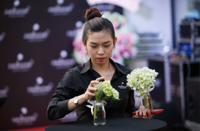 Công tác chuẩn bị VIP Party showroom dược mỹ phẩm Sakura Nhật Bản