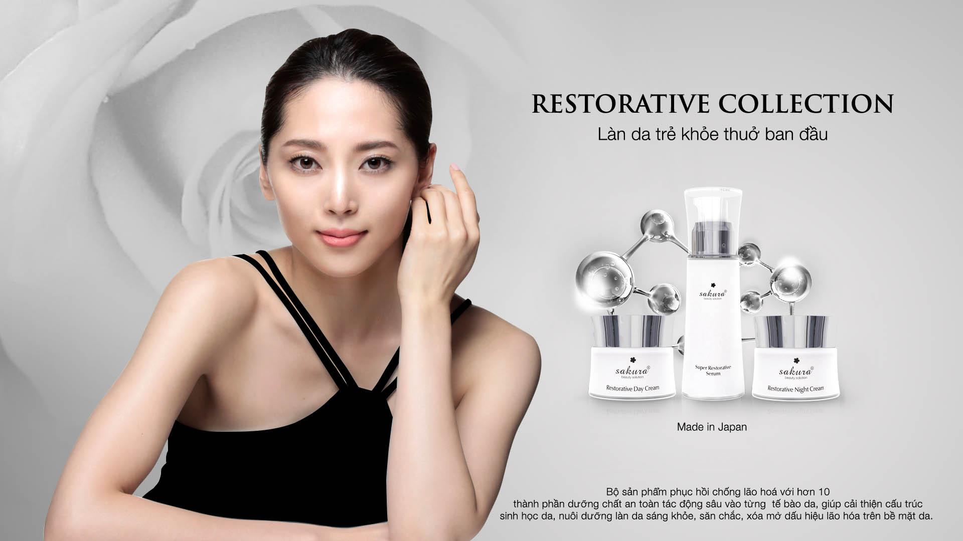 RESTORATIVE COLLECTION bộ sản phẩm chuyên biệt cho làn da hư tổn