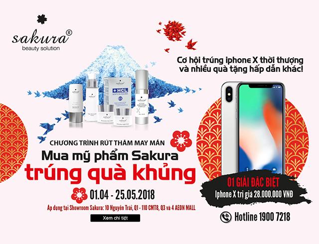 Ưu đãi đặc biệt – Mua Sakura, trúng iPhone X