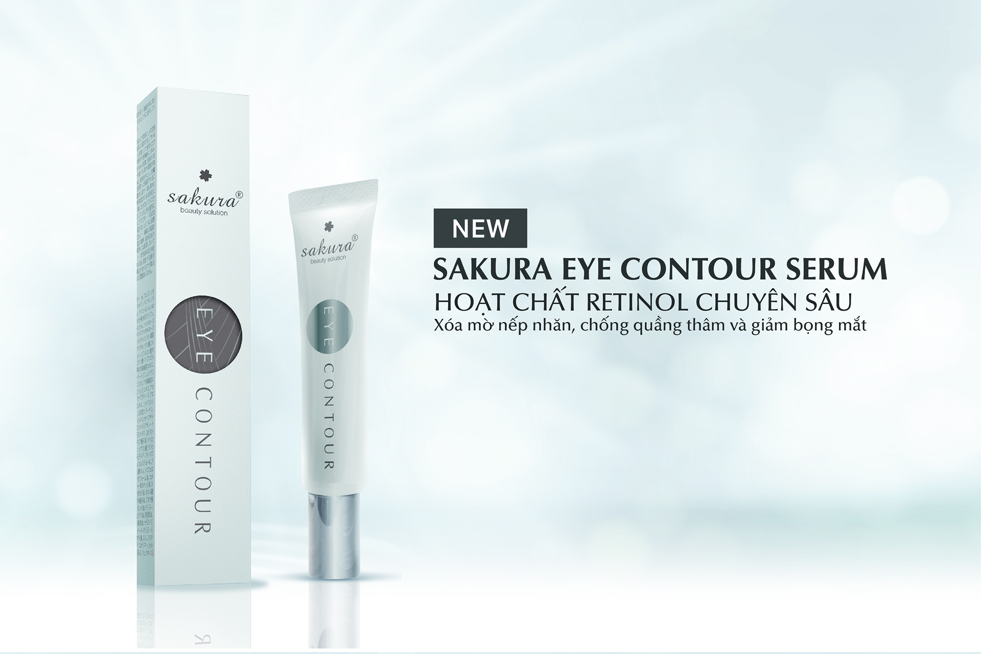 Ra mắt sản phẩm mới Sakura Eye Contour Serum – Giảm nếp nhăn, quầng thâm vùng mắt