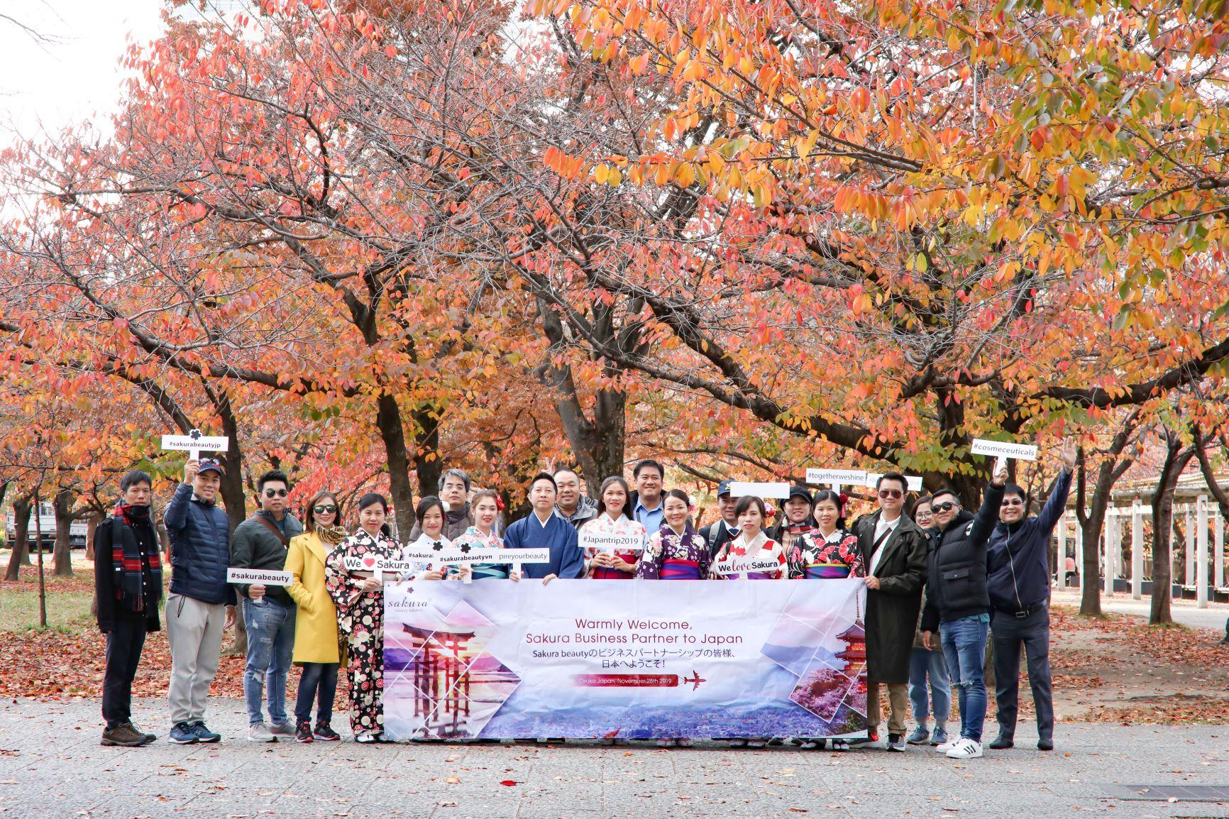 Chuyến đi Nhật Bản gắn kết đại gia đình Sakura Beauty