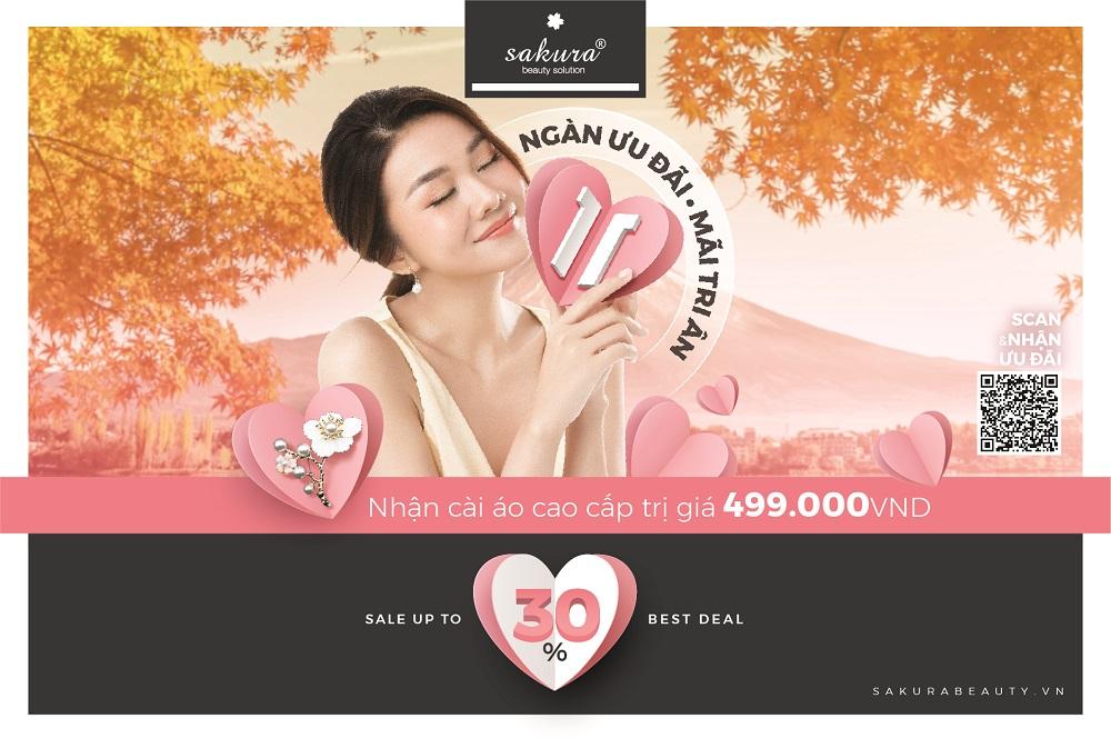 Khuyến mãi Tháng 11: Sale Up 30% - Nhận cài áo cao cấp trị giá 499,000VND
