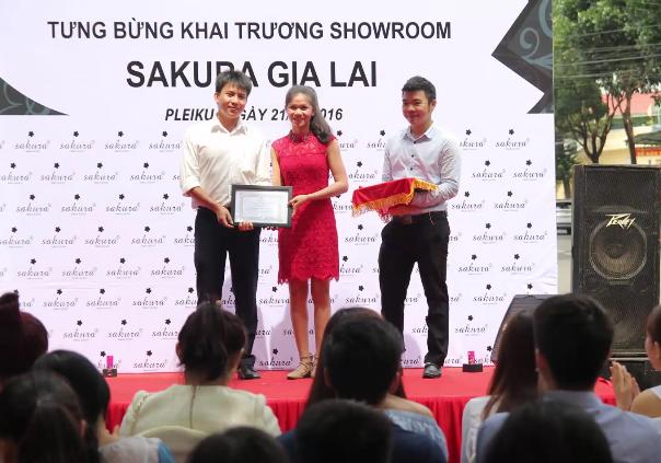 Sakura tưng bừng khai trương Showroom tại Gia Lai - Sakura Việt Nam