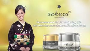 Sakura Spots Care Whitening Day & Night Cream