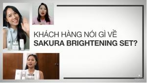Cảm nhận khách hàng sử dụng bộ Sakura Brightening