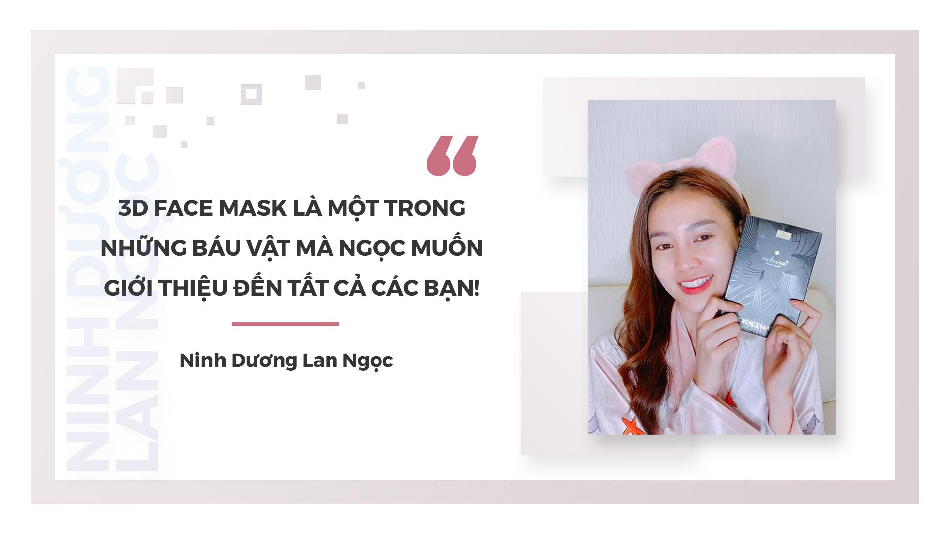 Ninh Dương Lan Ngọc, Giang Anh Hana, Diệp Chi review Sakura 3D Face Mask