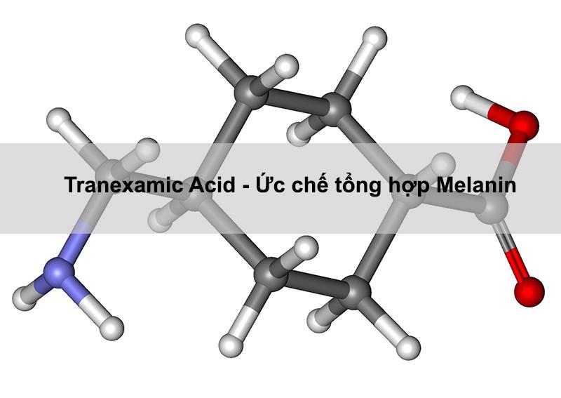 tranexamic acid ức chế tổng hợp melanin