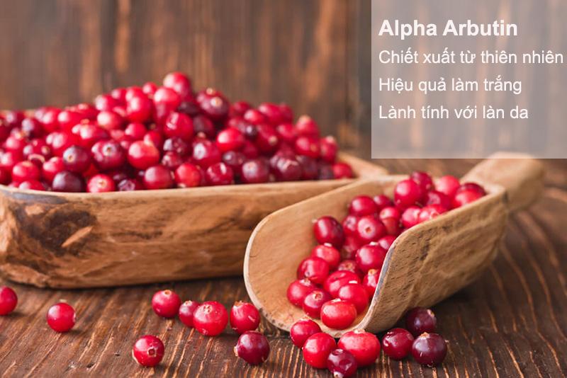 alpha arbutin tự nhiên có tác dụng làm sáng da hiệu quả