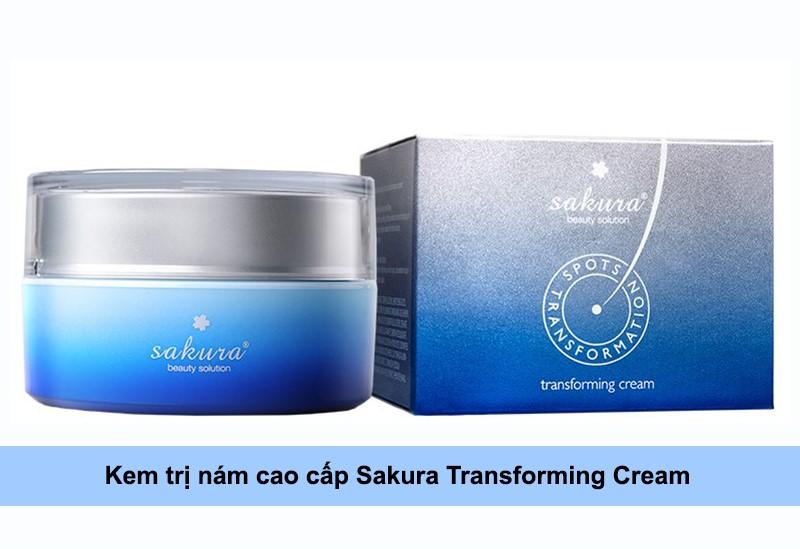 kem làm mờ vết nám sakura transforming cream