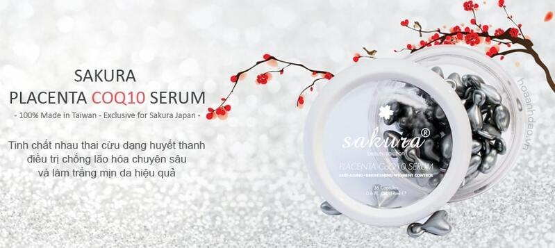 sakura placenta coq10 serum